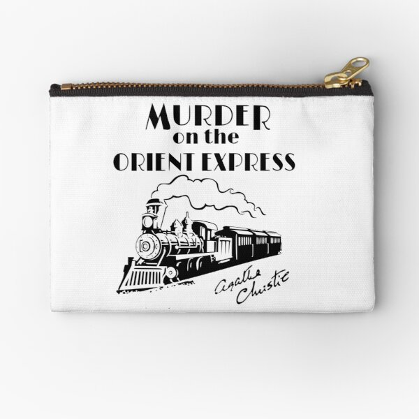 Murder on the Orient Express Agatha Christie book cover Zipper Pouch