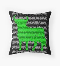 """The Year Of The Ox / Oxen / Buffalo / Cow"" Cards Throw Pillow"