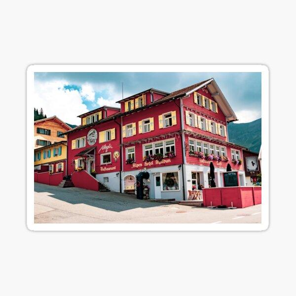 A view of Malbun in Liechtenstein Sticker