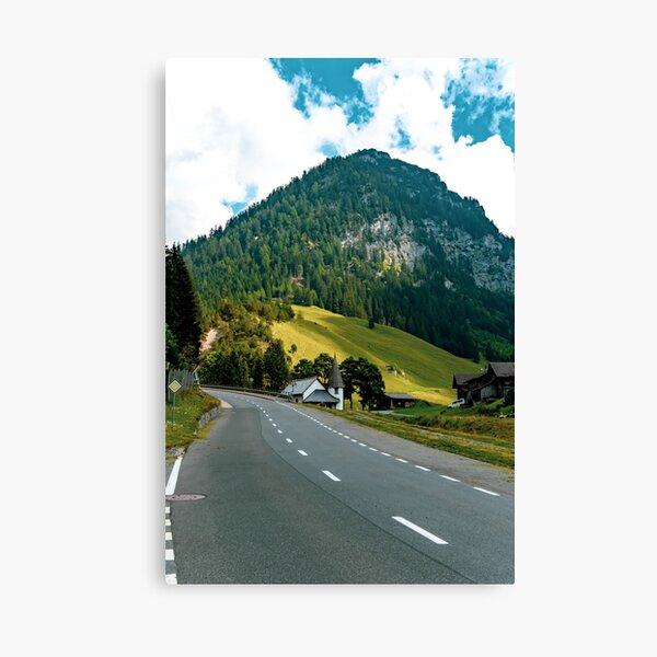 Steg, central Principality of Liechtenstein Canvas Print