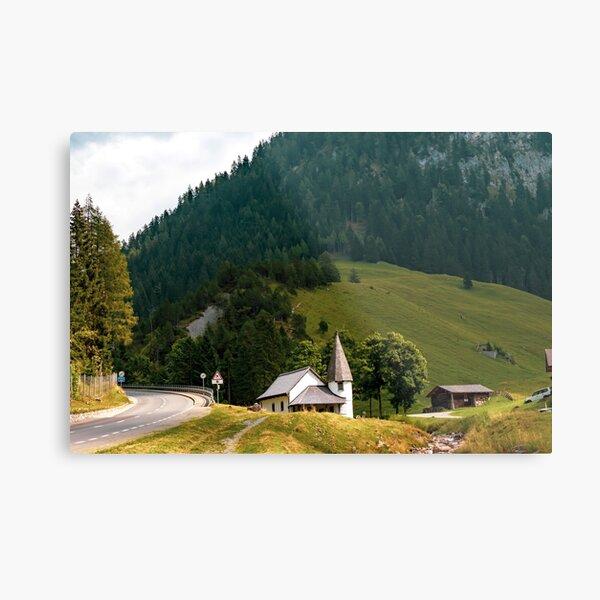Steg, central Principality of Liechtenstein Metal Print