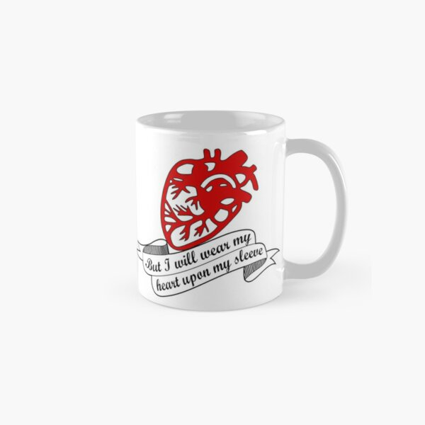 I will wear my heart on my sleeve - Othello Shakespeare quote Classic Mug