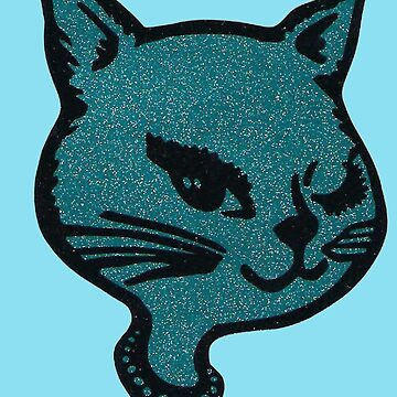 Blue Winking Cat  by MohrCreations