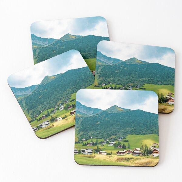 Mountains in Liechtenstein Coasters (Set of 4)