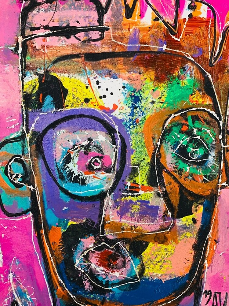 Neoexpressionism, art brut, spontaneous art, black and Colors, free figuration by dugardeyn
