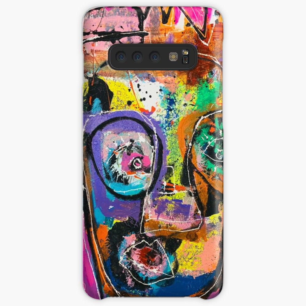 Neoexpressionism, art brut, spontaneous art, black and Colors, free figuration Case & Skin for Samsung Galaxy