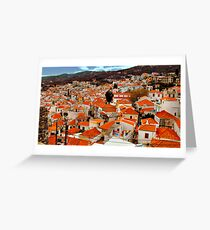 The  rooftops of Skiathos  Greeting Card
