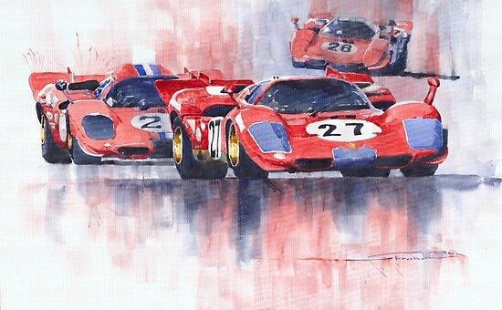 Ferrari 512 S 1970 24 Hours of Daytona by Yuriy Shevchuk