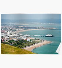 Eastbourne, Sussex, UK - From Beachy Head Poster