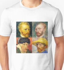 Vincent Van Gogh - 4 Self Portraits T-Shirt