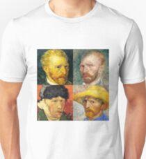 Vincent Van Gogh - 4 Self Portraits Unisex T-Shirt