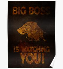 Metal Gear Solid V: Big Boss Is Watching You Poster