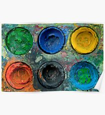 Painted Pallette No.5 Poster