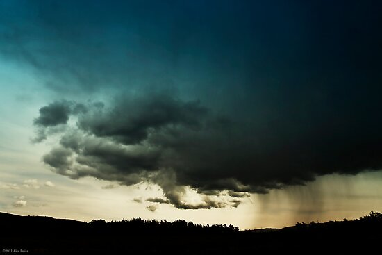 Storm Over Stoney Indian Reserve by Alex Preiss