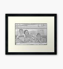 Family Outing Framed Print