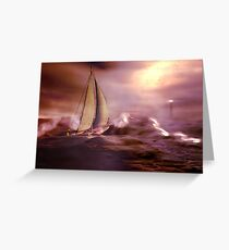 Racing the storm to safety Greeting Card