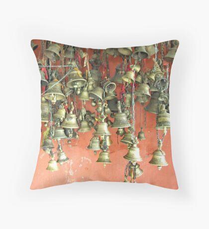 Temple bells Throw Pillow