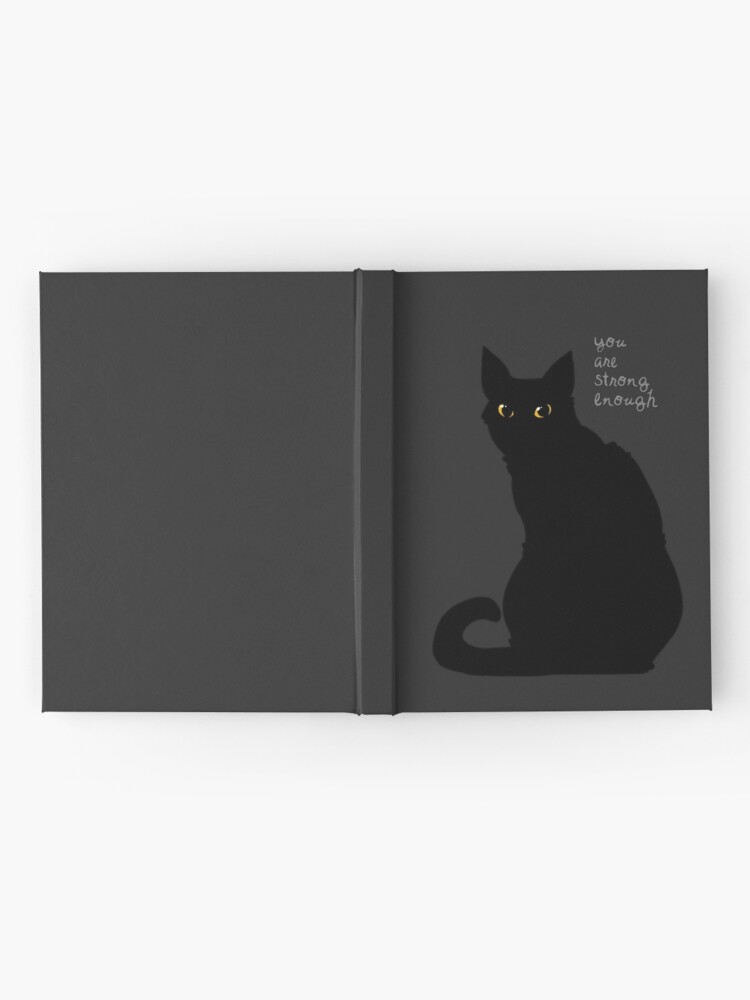 """Alternate view of """"Strong Enough"""" Cat Hardcover Journal"""