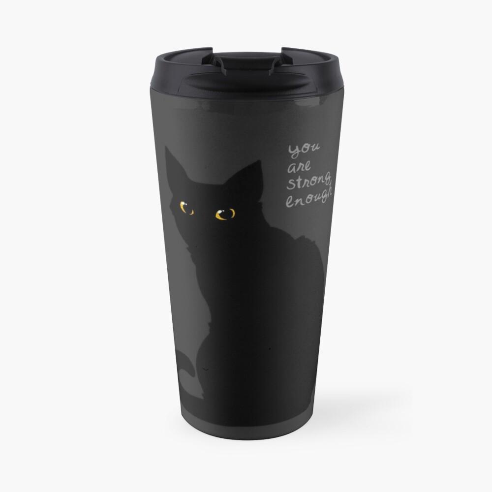 """""""Strong Enough"""" Cat Travel Mug"""