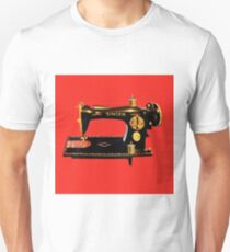 VINTAGE SEWING MACHINE-PILLOWS-TOTE BAG-JOURNAL-SCARF-ECT. Unisex T-Shirt