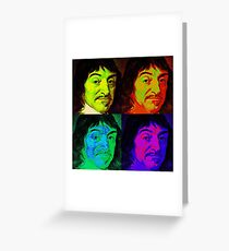 Rene Descartes - Pop Art Greeting Card