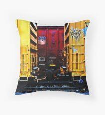 Rail Yard Throw Pillow