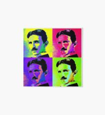 Nikola Tesla Pop Art Art Board