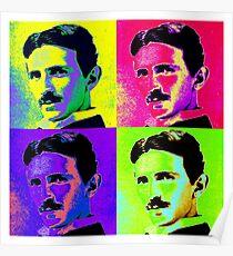 Nikola Tesla Pop Art Poster