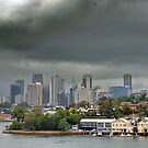 Storm Brewing over Sydney  by Clare McClelland
