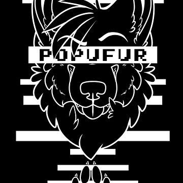 POPUFUR -white text- by 8Bit-Paws