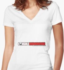 Console Domination T's Women's Fitted V-Neck T-Shirt