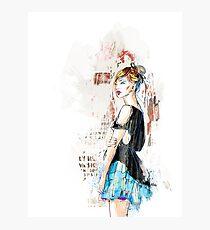 Blue skirt Photographic Print