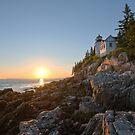 Sunset at Bass Harbor Lighthouse - Acadia National Park, Maine by Jason Heritage