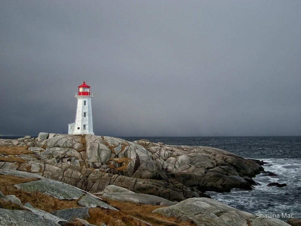 Peggy's Cove Lighthouse Nova Scotia Canada by Shawna Mac