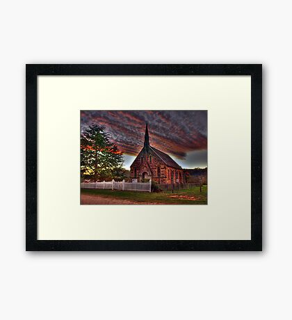 Glory to the Sun- Hill End Framed Print