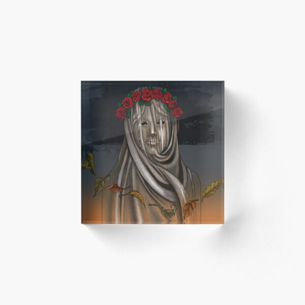 The Veiled Lady Acrylic Block