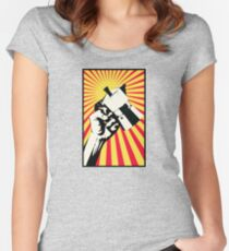 Moka Revolution! Women's Fitted Scoop T-Shirt