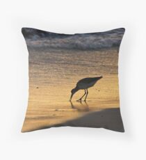 Sandpiper in Evening Throw Pillow