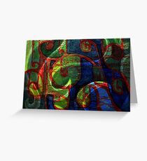 abstract scrolls Greeting Card