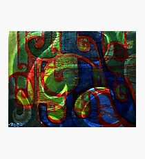 abstract scrolls Photographic Print