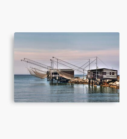 Huts and Nets Canvas Print