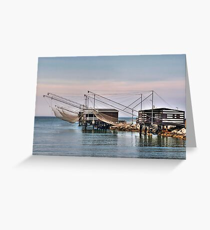 Huts and Nets Greeting Card