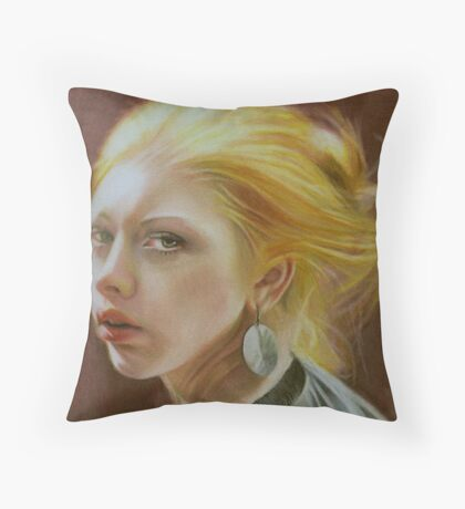 The girl with a silver earring Throw Pillow
