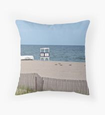 At Rest on the Beach Throw Pillow