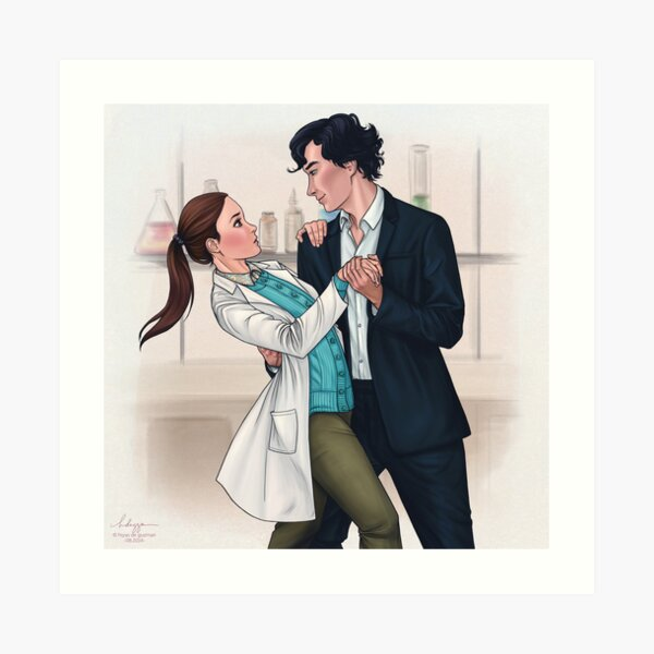 Sherlolly Dancing In The Morgue Art Print