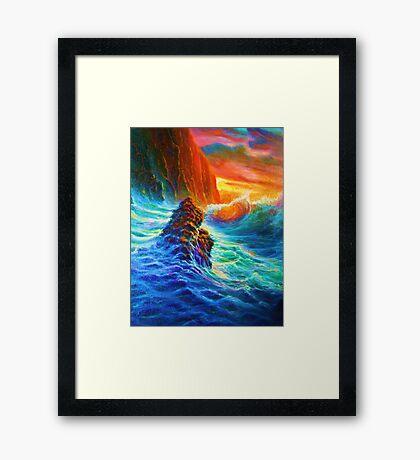 Napali Coast Sunset,Kauai Framed Print