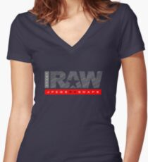 Shoot Raw Women's Fitted V-Neck T-Shirt
