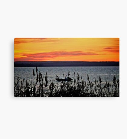 Fathers Day Sunset Over Narragansett Bay - Rhode Island Canvas Print