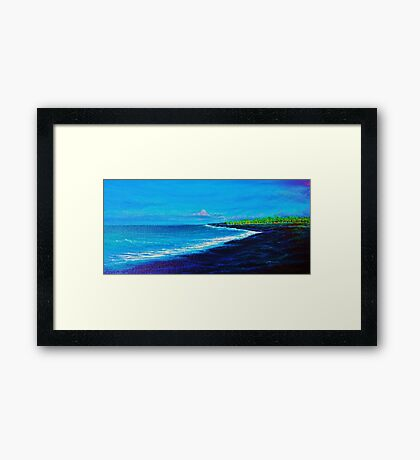 Kawi Lava Flow, N. Kona Framed Print