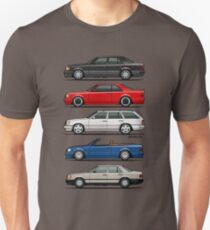 Stack of Mercedes Benz W124 E-Class Unisex T-Shirt